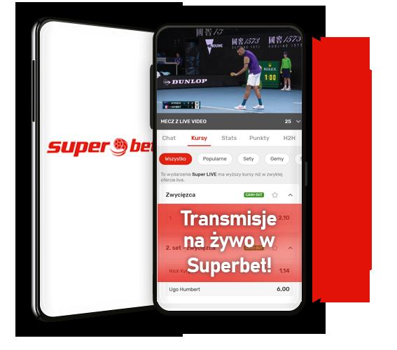 Transmisje na żywo w Superbet. Czy streaming live jest dostępny w Superbet?