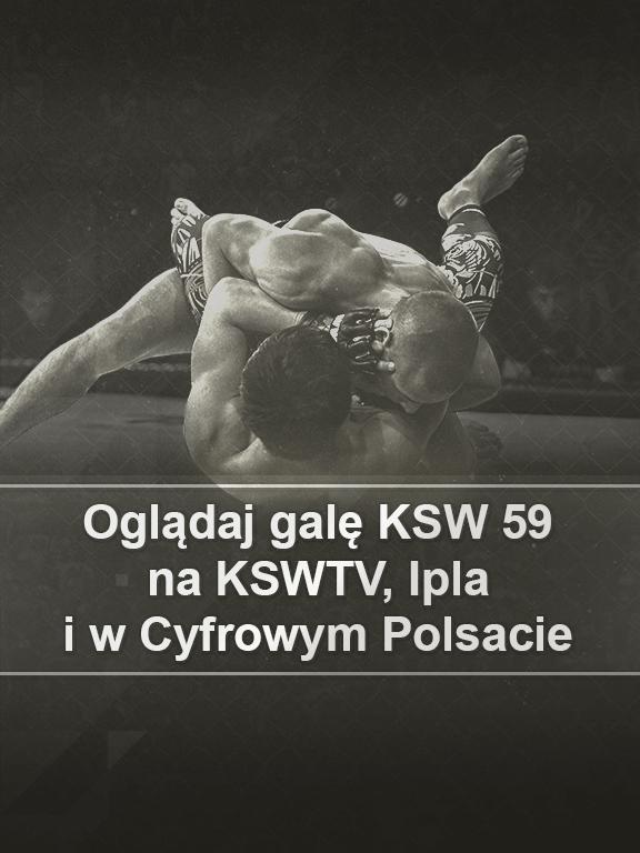 Gdzie oglądać galę KSW 59?
