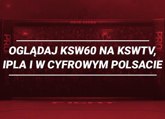 Gdzie oglądać galę KSW 60?